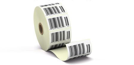 Barcodeetiketten auf Rolle