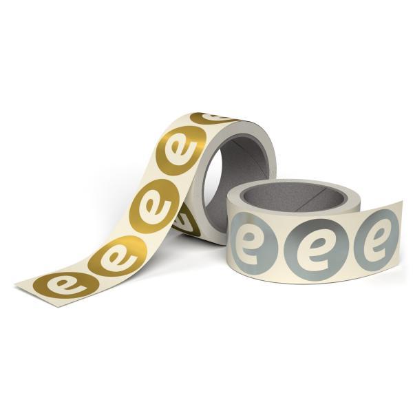 Metallic Gold Silber Etiketten